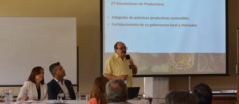 """Taller """"Retos y oportunidades del desarrollo de mercados y la comercialización de bienes y servicios amigables con la biodiversidad en Mesoamérica""""."""